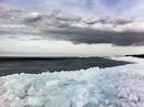 kruiend ijs op Urk
