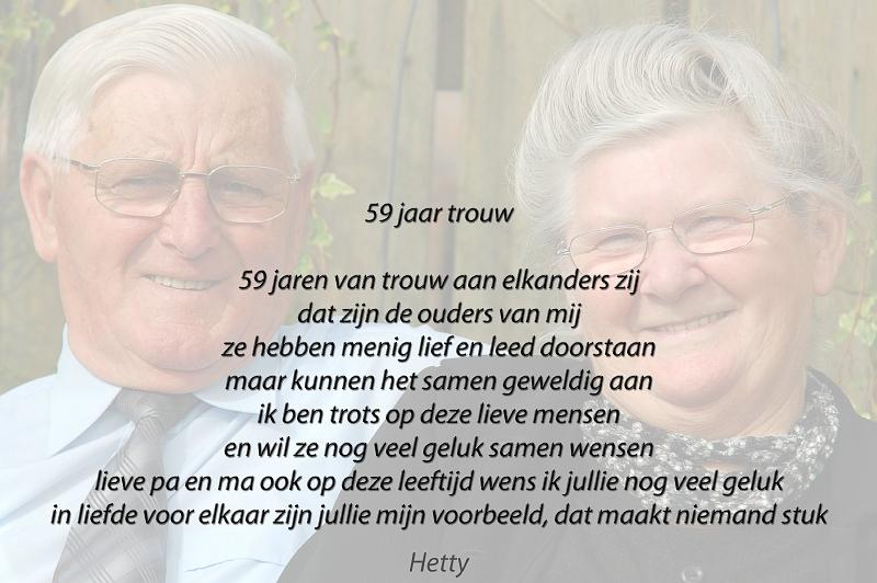 Fabulous Gedicht Ouders 25 Jaar Getrouwd | Gefeliciteerd #LG99
